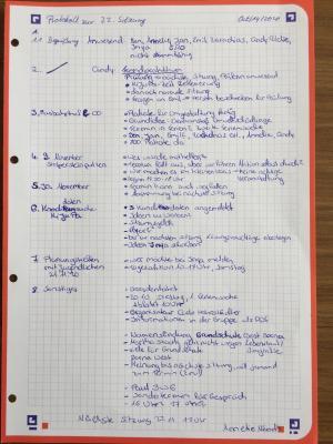 Protokoll 22. Sitzung
