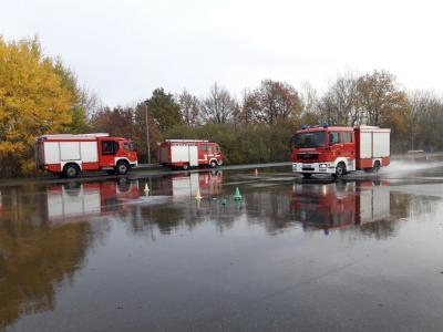 Fahrsicherheitstraining mit Feuerwehrfahrzeugen 14.11.2020