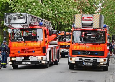 Rückblick: Zum 150. Gründungsfest der Freiwilligen Feuerwehr Rosenheim 2010 gab es das ganze Jahr über Veranstaltungen wie eine große Parade von aktuellen und ehemaligen Feuerwehrfahrzeugen durch die Innenstadt. Zum 160. Geburtstag fallen alle Feiern wegen Corona aus