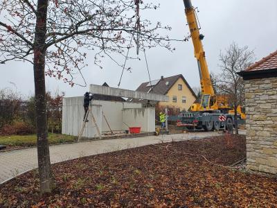 Vorschaubild zur Meldung: Neues Lagergebäude beim Friedhof Bühlertann