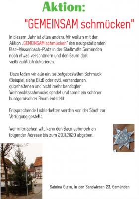 """Foto zur Meldung: Aktion """"GEMEINSAM schmücken"""""""