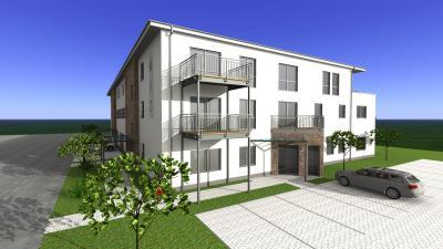 Vorschaubild zur Meldung: Bauantrag für Wohn-/Geschäftshaus der Steinwiesen I GmbH eingereicht
