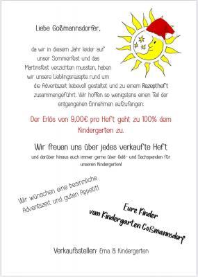 Vorschaubild zur Meldung: Rezeptheft des Kindergartens