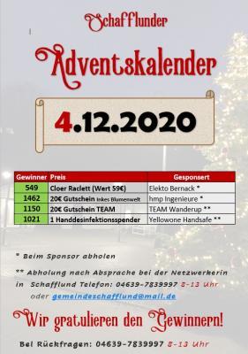 Foto zur Meldung: Adventskalender - Gewinner 4.12.