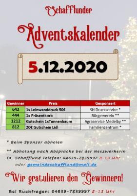 Vorschaubild zur Meldung: Adventskalender - Gewinner 5.12.