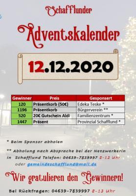Adventskalender - Gewinner 12.12.