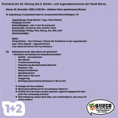 Protokoll 23. Sitzung KIJUPA 6.0