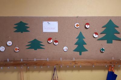 Foto zur Meldung: Klasse 3c: Adventsbasteln