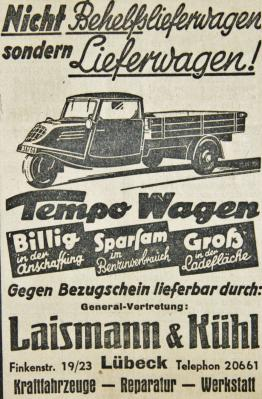 Tempo-Wagen-Werbung SKTB 14.12.1940