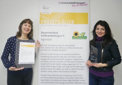 BV Suedbrandenburg - Auszeichnung SCHULEWIRTSCHAFT-Preis 2020
