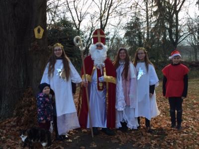 Foto zu Meldung: Der Nikolaus zu Besuch in Friedersdorf