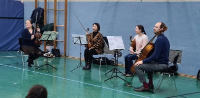 Foto zur Meldung: Streichorchester in der Nordschule