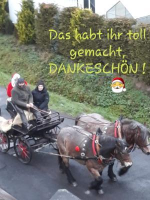 Foto zur Meldung: Der Weihnachtsmann war unterwegs ...