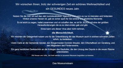 Vorschaubild zur Meldung: Weihnachtsgrüße aus dem Deutschen Thermometermuseum in Geraberg