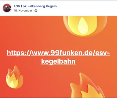 Crowdfunding - ESV Lok Falkenberg
