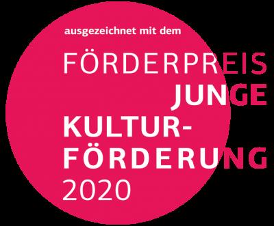 """Bild der Meldung: Wir wurden mit dem """"Junge Kulturförderpreis 2020"""" ausgezeichnet"""