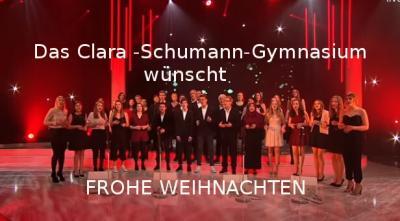 Foto zur Meldung: Das Clara-Schumann-Gymnasium wünscht FROHE WEIHNACHTEN