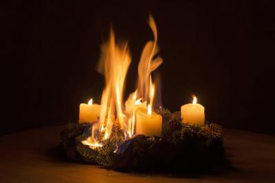 Brandgefahr zur Weihnachtszeit
