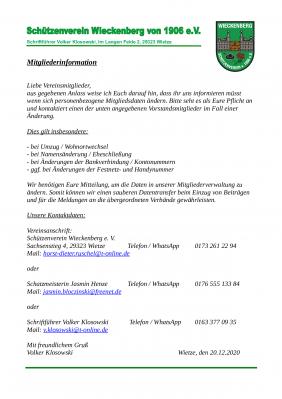 Vorschaubild zur Meldung: Mitgliederinformation 12.2020