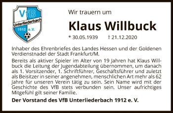 Vorschaubild zur Meldung: Klaus Willbuck verstorben