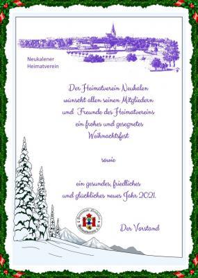 Foto zur Meldung: Beste Weihnachts- & Neujahrsgrüße vom Heimatverein