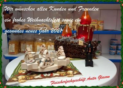 Foto zur Meldung: Beste Weihnachts- & Neujahrsgrüße vom Fleischerfachgeschäft