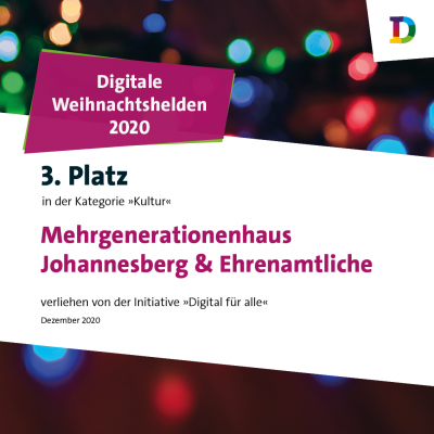 """Vorschaubild zur Meldung: 3. Platz des MGH beim Wettbewerb """"Digitale Weihnachtshelden 2020"""""""