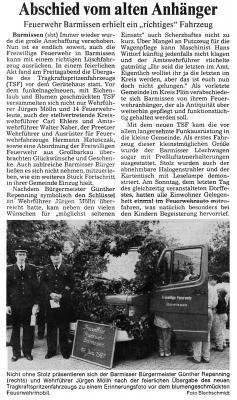 """Foto zur Meldung: Barmissener Feuerwehr erhält ein """"richtiges"""" Einsatzfahrzeug"""
