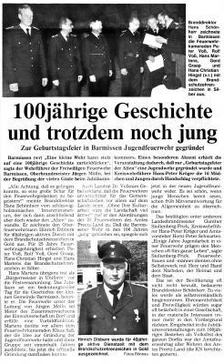 100 Jahre Freiwillige Feuerwehr Barmissen