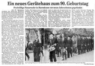Foto zur Meldung: 90 Jahr Gründungsfeier und Einweihung des neuen Feuerwehrgerätehauses