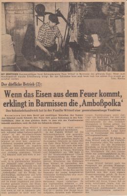 Foto zur Meldung: Der Barmissener Schmied Hans Wittorf bei der Arbeit