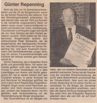 Foto zur Meldung: Bürgermeister Günther Repenning