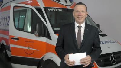 Foto zu Meldung: Neujahrsansprache des Landrates im Elbe-Elster-Fernsehen
