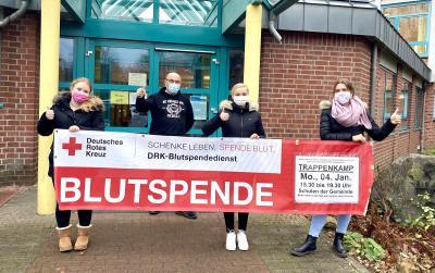 Foto zur Meldung: Trappenkamp: Schüler organisieren Blutspende am 4. Januar