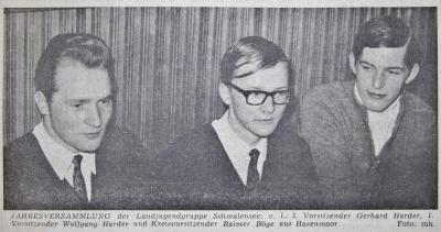 Gerhard Harder übergibt LaJu-Vorsitz an Wolfgang Harder SZ 27.01.1971