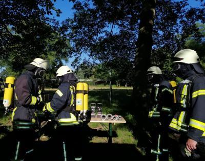 Foto zur Meldung: Ausbildungsübung Atemschutz