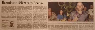 Barmissen feiert sein Bronze
