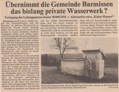 Übernimmt die Gemeinde Barmissen das private Wasserwerk?