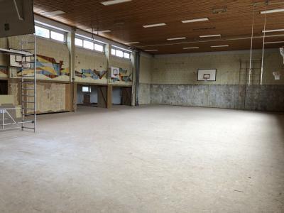Fortschritt der Bauarbeiten Halle 5