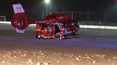 Ausleuchtung Hubschrauberlandung