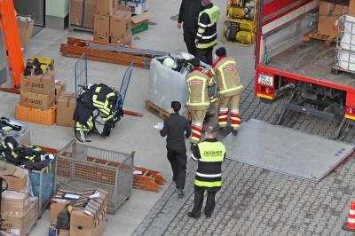 Foto zur Meldung: Hauptfeuerwache Rosenheim war Sammelpunkt Süd für die Kroatien-Hilfe der bayerischen Feuerwehren