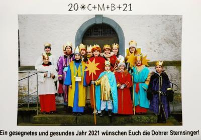 Das Foto zeigt die Sternsingergruppe 2020
