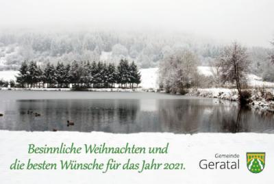 Foto zur Meldung: Weihnachtsgrüße vom Bürgermeister der Gemeinde Geratal