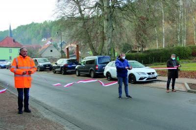 Vorschaubild zur Meldung: Großes Aufatmen in Liebenstein - Ortsdurchfahrt nach aufwendiger Sanierung wieder freigegeben