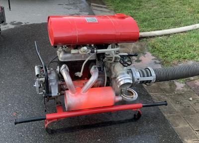 Die Pumpe läuft