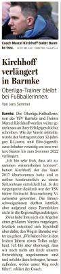 Foto zur Meldung: Marcel Kirchhoff bleibt Trainer der Fussballfrauen