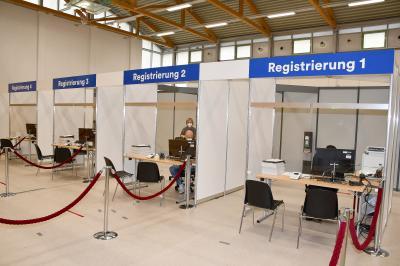 Foto zu Meldung: Brandenburg impft: Impfzentrum in Elsterwerda wie geplant eröffnet