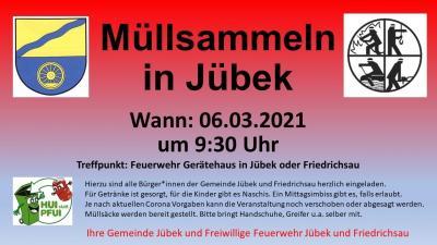 Foto zur Meldung: Müllsammeln in Jübek und Friedrichsau am 06.03.2021