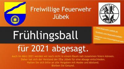 Foto zur Meldung: Frühlingsball 2021 in Jübek abgesagt