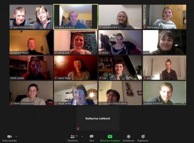JHV 2020 als Videokonferenz - ein Screenshot